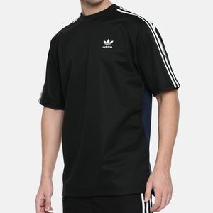 Black mens Adidas stripped shirt